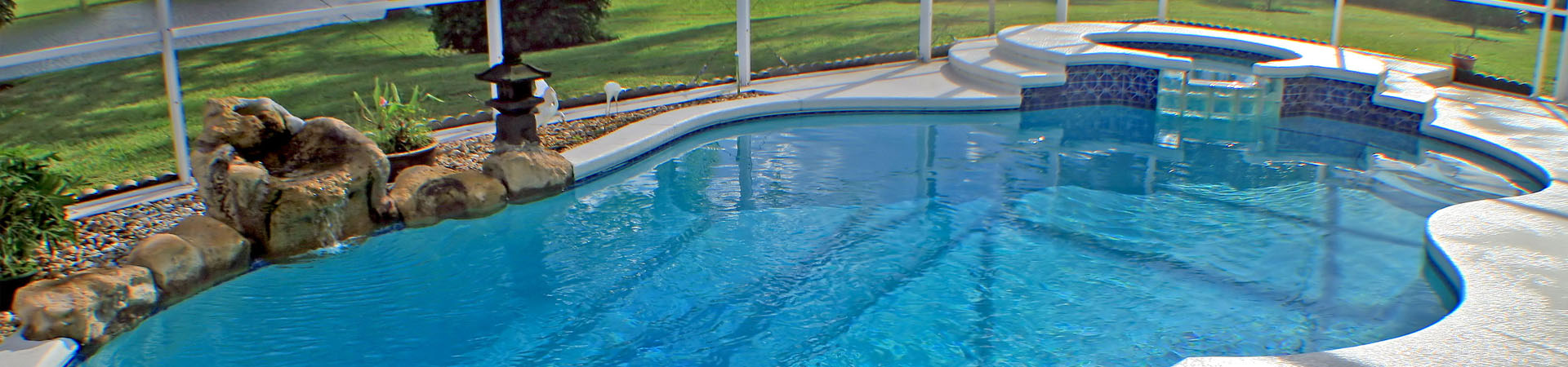 Residential Pool with hot tub | Stahlman Pool Company - Naples, Florida