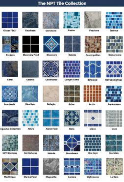 The NPT Tile Collection - Pool Renovation & Design | Stahlman Pool Company - Naples, Florida