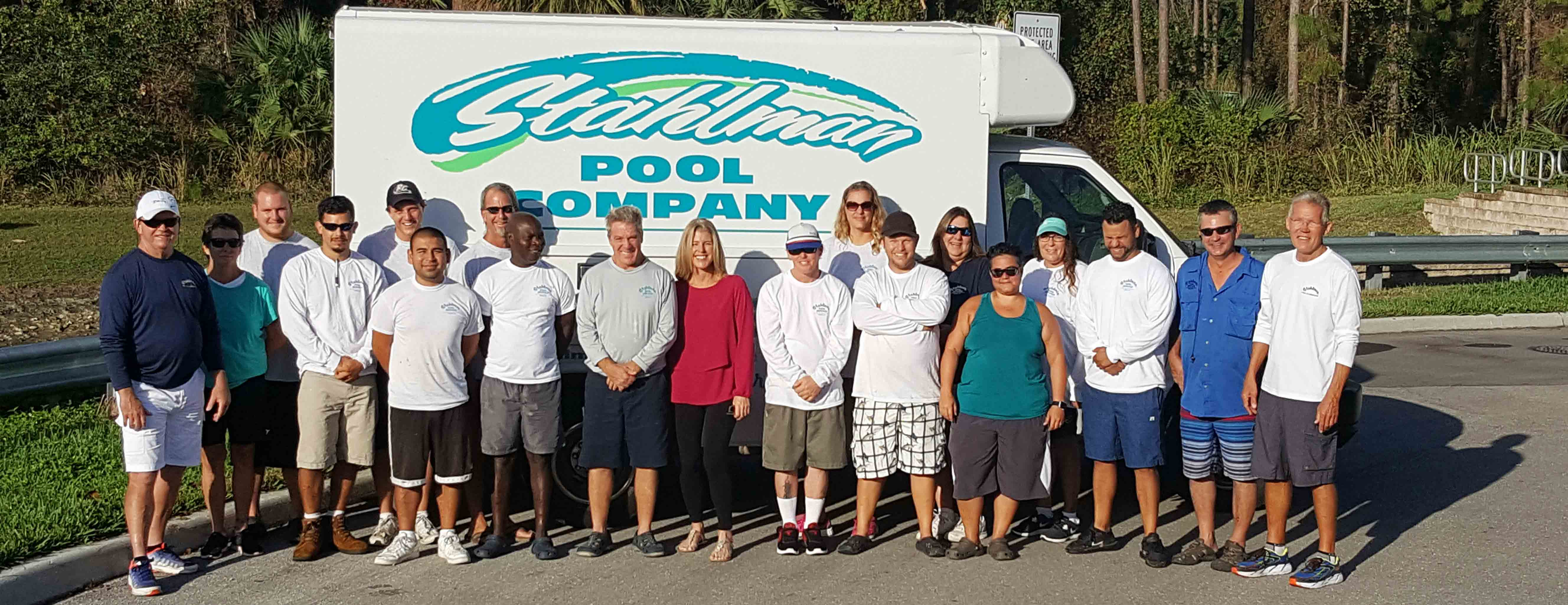 Team And Pool Technicians At Stahlman Company Naples Florida